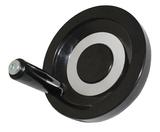 Маховик 80х10х33мм (DxdxH) цельнолитой, бакелит TLX с ручкой